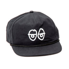 Krooked Skateboarding Embroidered Stock Eyes Adjustable Hat - Black