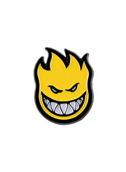 Spitfire Bighead Lapel Pin - Yellow