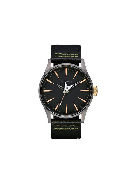 NIXON SENTRY LEATHER BLK SEEK & DESTROY (4105310600)
