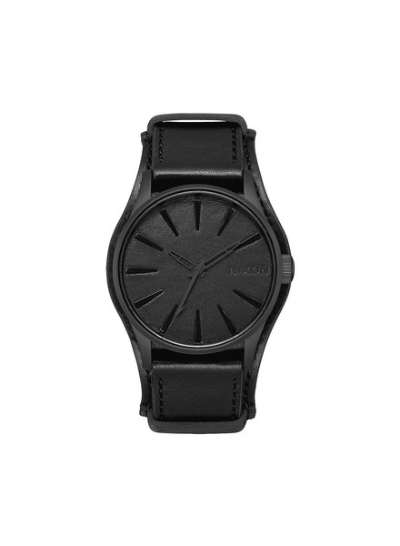 NIXON NIXON SENTRY LEATHER BLACK ALBUM BLK (A105310100)