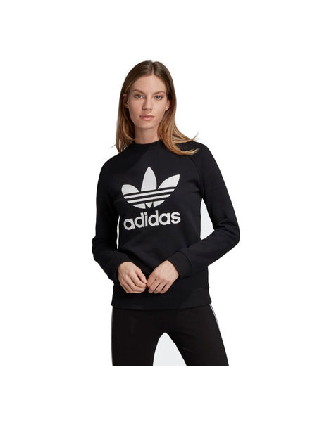 adidas ADIDAS CREW TREFOIL SWEATER BLACK