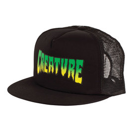 CREATURE HAT LOGO MESH BLACK