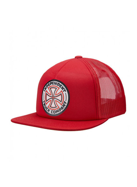 Independent Trucks INDEPENDENT HAT MESH CROSS TRUCKER RED/WHITE