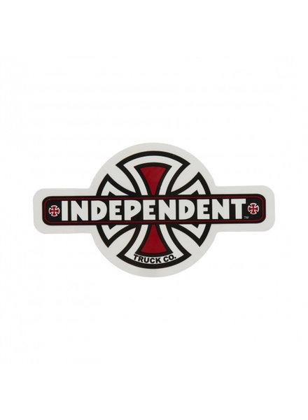 Independent Trucks INDEPENDENT STICKER VINTAGE CROSS BLACK/WHITE/RED