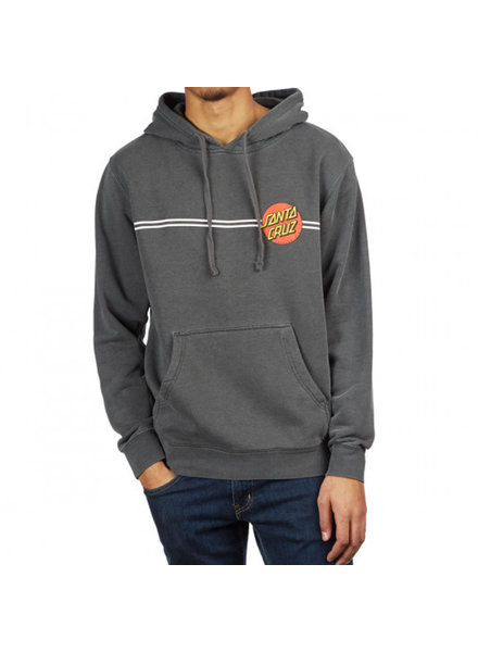 Santa Cruz Skateboards SANTA CRUZ CLASSIC DOT P/O HOODED  HVYWHT SWTSHRT PIGMENT BLACK (442458199589)