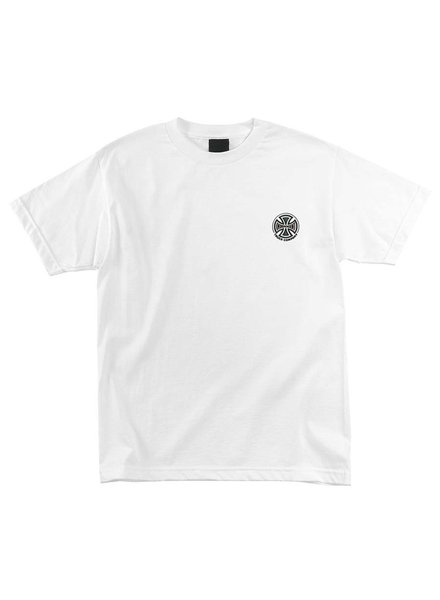 Independent Trucks INDEPENDENT EMBROIDERY S/S TSHIRT WHITE (4415365102221)