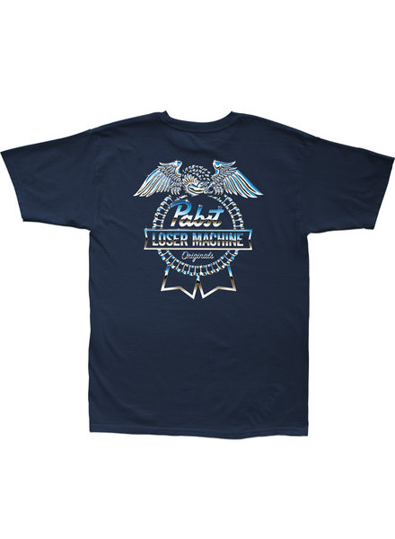 Loser Machine x Pabst Blue Ribbon Highway Stock Tee - Navy