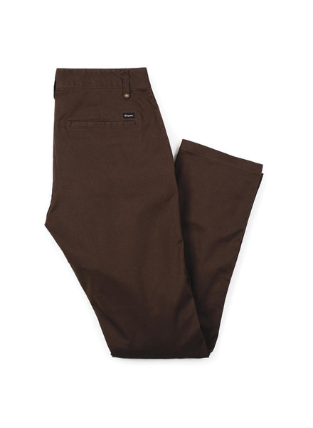 Brixton Reserve Chino Pant - Brown