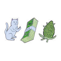 RIPNDIP RIPNDIP PIN PU$$Y,MONEY,WEED SET