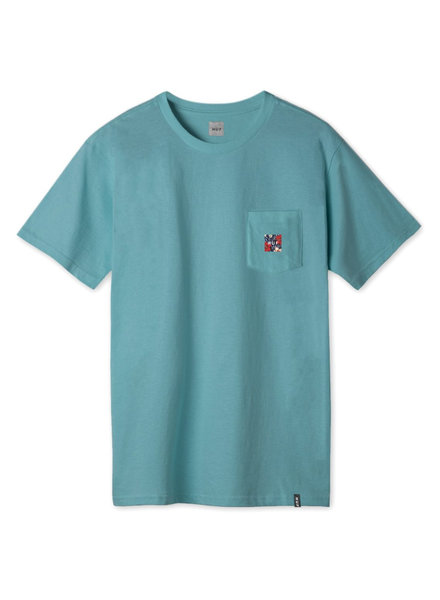 HUF Semitropic Pocket Tee - Biscay Bay