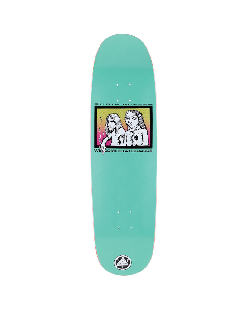 Welcome Skateboards WELCOME DECK THE COUPLE ON CATBLOOD 2.0 BLACK 8.75 (COUPCAT2TEAL)