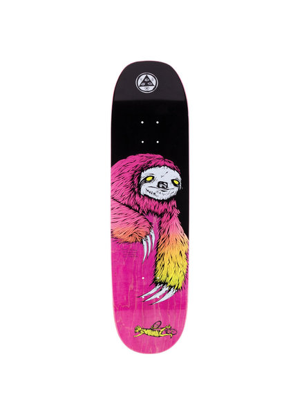 Welcome Skateboards WELCOME DECK SLOTH ON MOONTRIMMER 8.5 BLACK (SLOTMOOMBKSF)