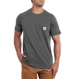CARHARTT T-SHIRT FORCE COTTON DELMONT GREY