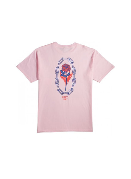 OBEY ROSETTE PINK T-SHIRT