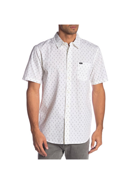 OBEY SCREW PRINT WHITE BUTTON UP