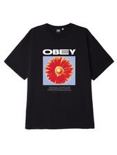 OBEY Black Flower Power Tee