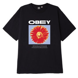 OBEY Black Flower Power Tee