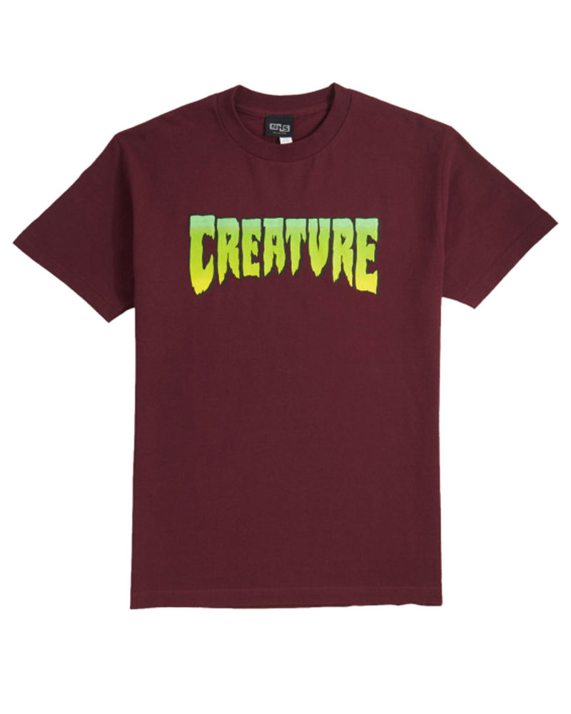 Creature CREATURE LOGO T-SHIRT BURGUNDY