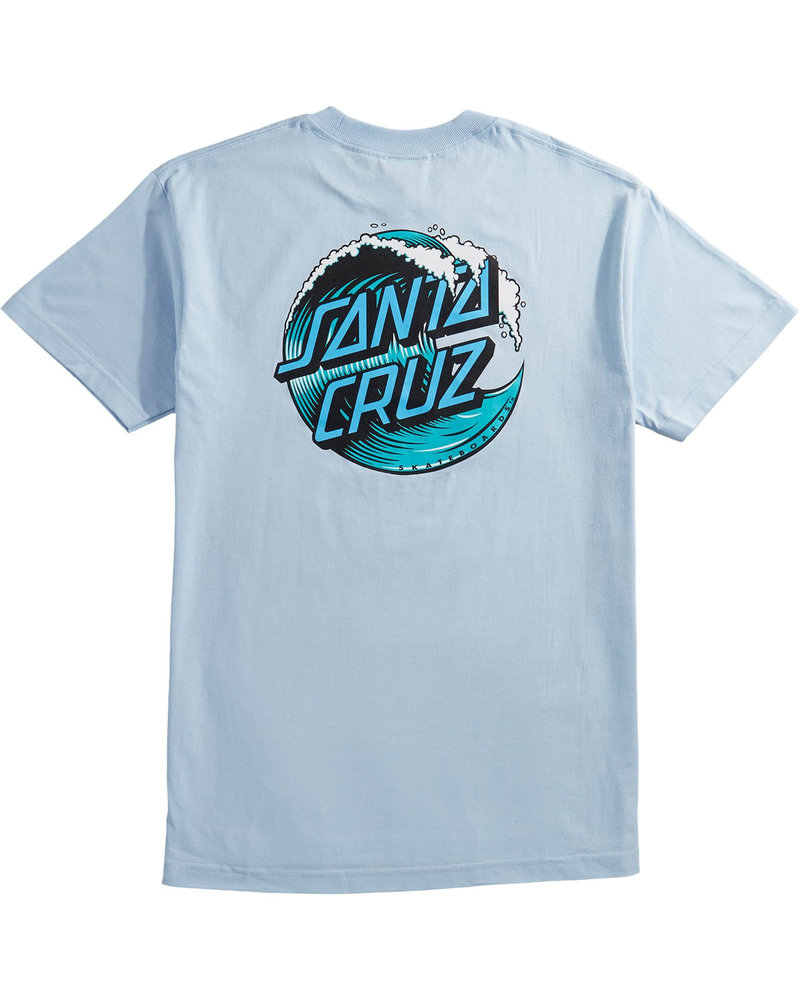Santa Cruz Skateboards WAVE DOT T-SHIRT POWDER BLUE