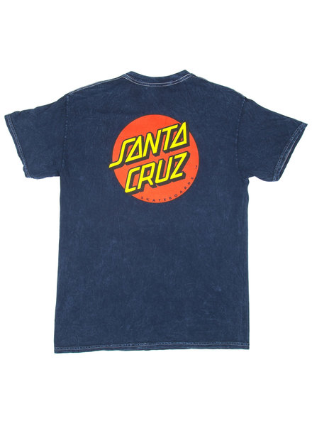 Santa Cruz Skateboards CLASSIC DOT T-SHIRT MINERAL NAVY