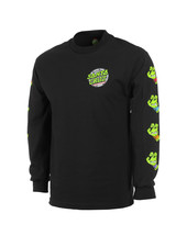 Santa Cruz Skateboards SEWER DOT L/S T-SHIRT BLACK
