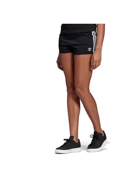 adidas 3 Stripe Black Shorts
