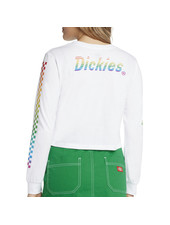 DICKIES RAINBOW CHECKERED CROP L/S T-SHIRT