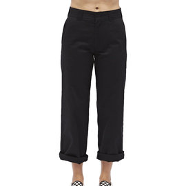 DICKIES HIGH RISE WORK CROP ROLLED HEM PANTS