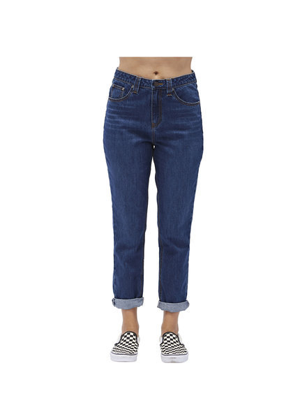 DICKIES 5 POCKET HIGH RISE MOM FIT ANKLE JEANS
