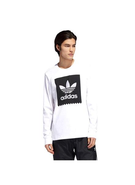 adidas ADIDAS T SHIRT LS BB WHT/BLK