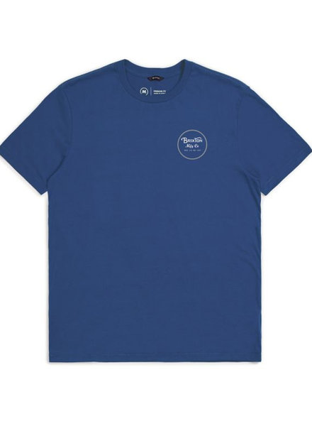BRIXTON T-SHIRT WHEELER II GREY/BLUE