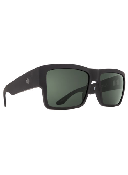 SPY CYRUS SOFT MATTE BLACK HD PLUS GRAY GREEN POLAR