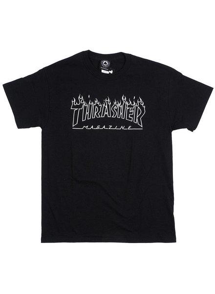 Thrasher SCORCHED OUTLINE T-SHIRT BLACK