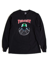 Thrasher DOUBLES L/S T-SHIRT BLACK