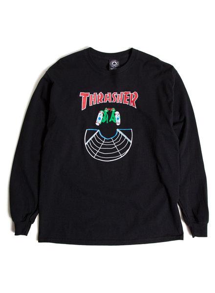 Thrasher DOUBLES L/S T-SHIRT BLACK