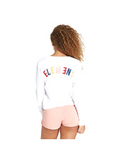 Element RAINBOW CROPPED L/S T-SHIRT