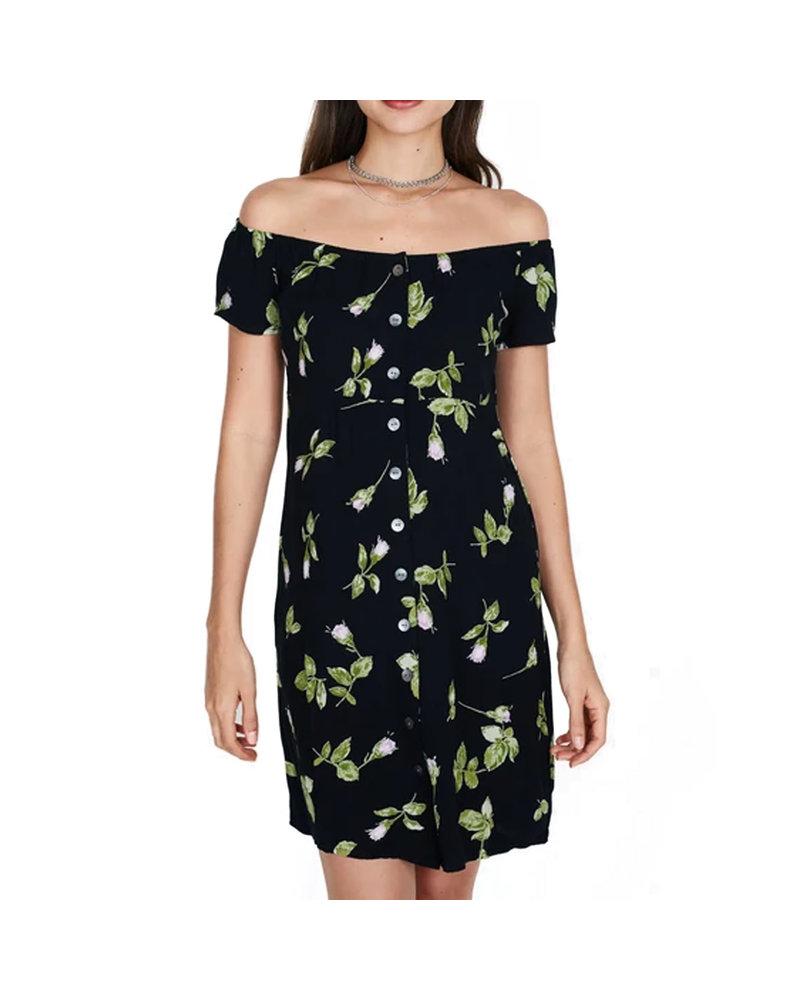 OBEY ROSA DRESS BLACK