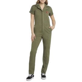 SHORT SLEEVE COVERALL OLIVE GREEN