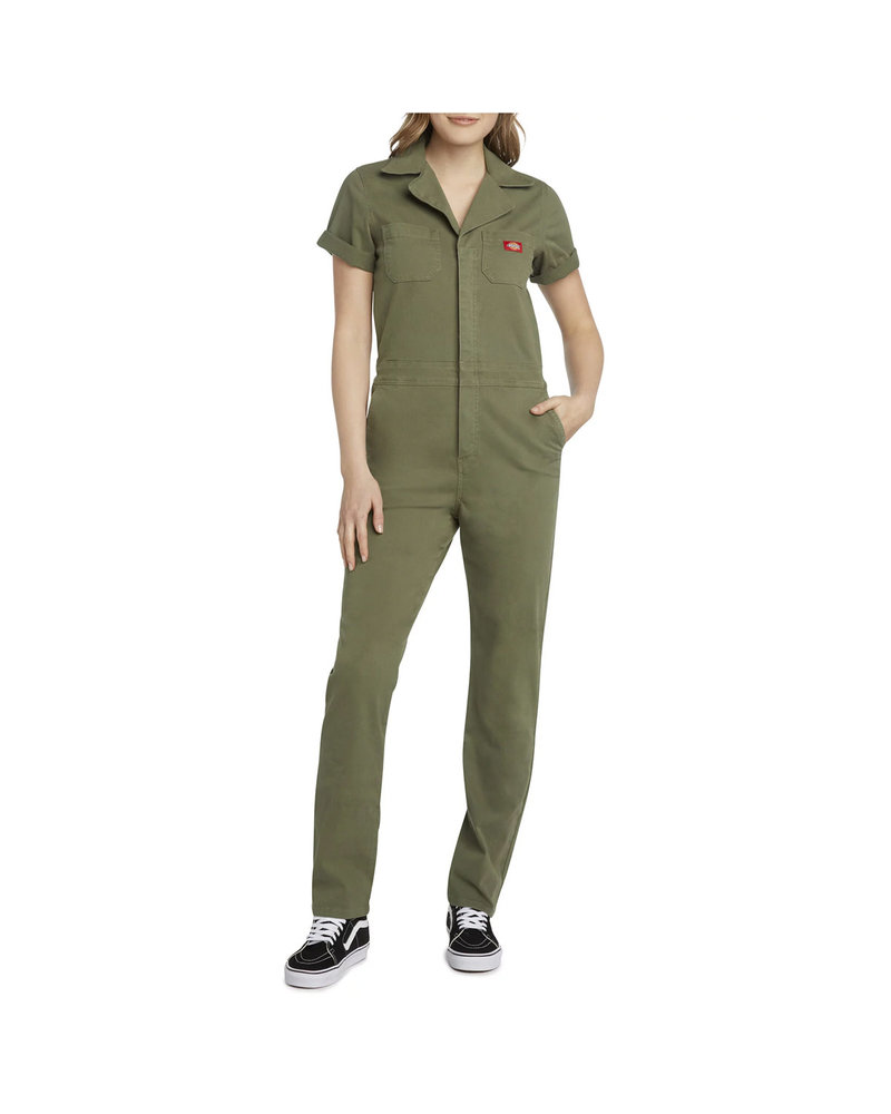 DICKIES SHORT SLEEVE COVERALL OLIVE GREEN