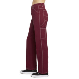 DICKIES RELAXED FIT CARPENTER PANTS BURGUNDY