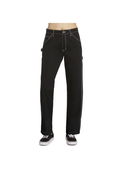 DICKIES RELAXED FIT CARPENTER PANTS BLACK