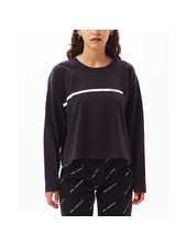 OBEY STRIPED CROPPED LONG SLEEVE T-SHIRT