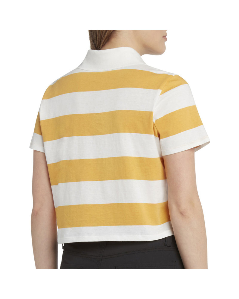 DICKIES CROPPED STRIPED POLO SHIRT