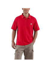 CARHARTT INC. POLO CONTRACTORS WORK POCKET RED