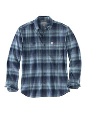CARHARTT INC. BUTTON UP RIGID FLEX HAMILTON NAVY/BLACK PLAID