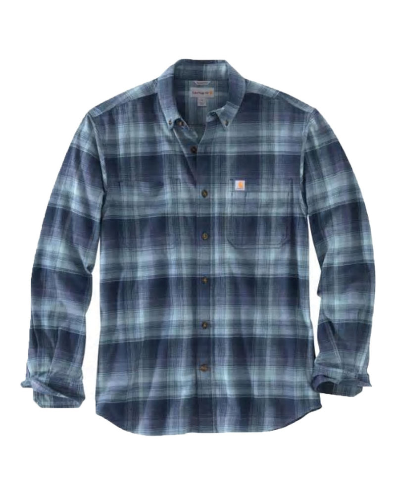 CARHARTT INC. CARHARTT BUTTON UP RIGID FLEX HAMILTON NAVY/BLACK PLAID