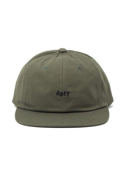 OBEY HAT JUMBLED 6 PANEL ARMY