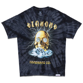 Diamond T SHIRT GOLD SKULL TIE DYE