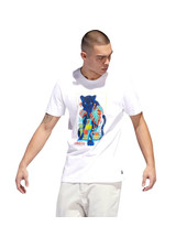 adidas T-SHIRT ARDMORE WHITE/MULTICOLOR