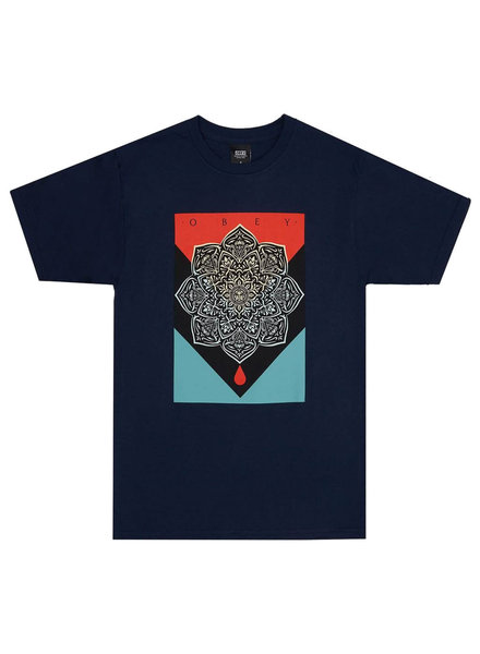 OBEY Blood and Oil Mandala Navy Tee